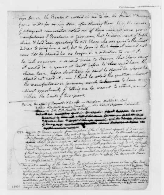 Thomas Jefferson, 1792-1793, Memorandum on Mills on Sawing Stone