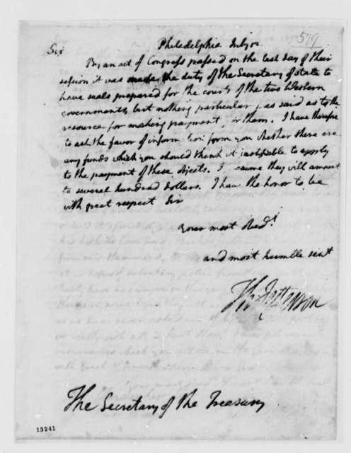 Thomas Jefferson to Alexander Hamilton, July 12, 1792