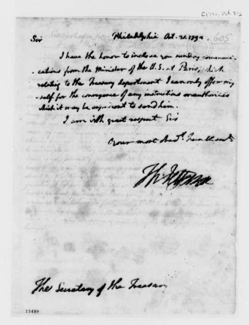 Thomas Jefferson to Alexander Hamilton, October 31, 1792