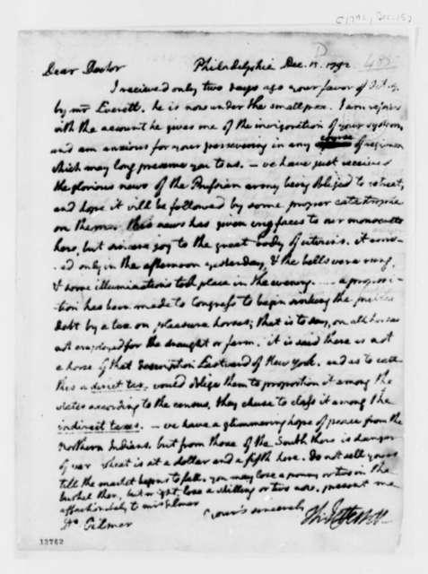 Thomas Jefferson to George Gilmer, December 15, 1792