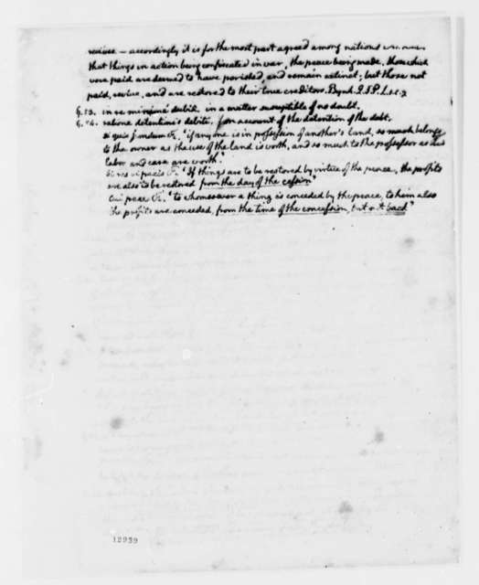 Thomas Jefferson to George Hammond, May 29, 1792, with Tables and Partial Copy