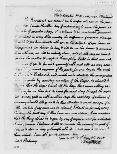 Thomas Jefferson to Timothy Pickering, March 28, 1792