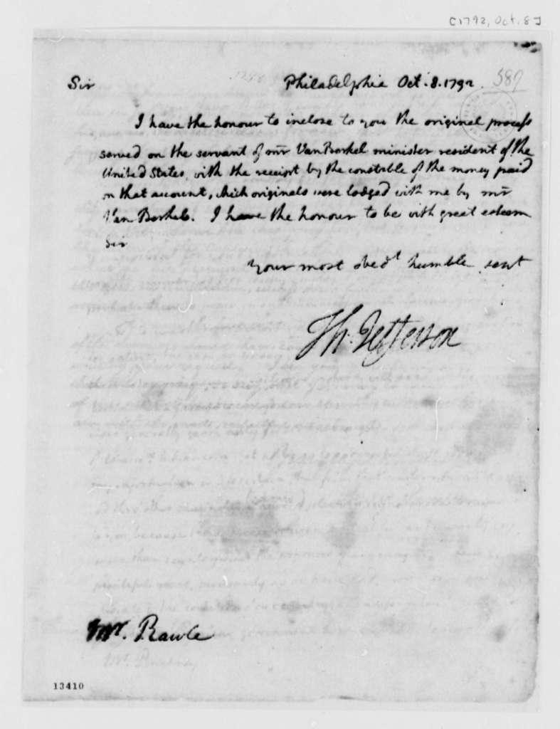 Thomas Jefferson to William Rawle, October 8, 1792