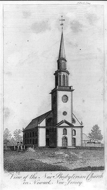 View of the new Presbyterian Church in Newark, New Jersey / Anderson del. ; Tiebout sculp.