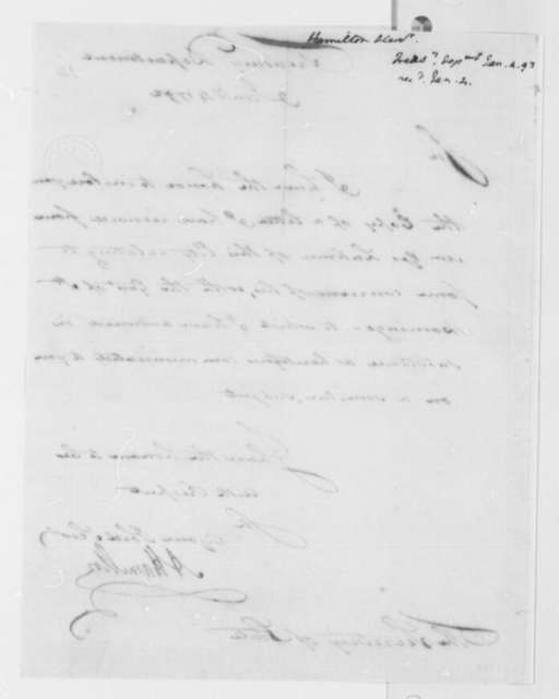 Alexander Hamilton to Thomas Jefferson, January 4, 1793
