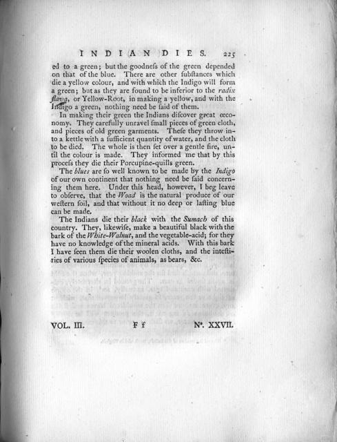 An account of some of the principal dies employed by the North-American Indians