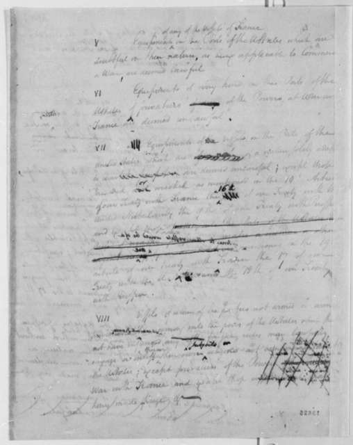 Cabinet, August 2, 1793, Notes on Neutrality Rules
