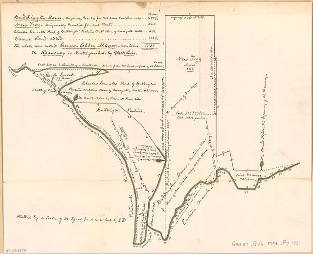 [Cadastral survey map of land tracts in central Washington D.C. ca. 1793].