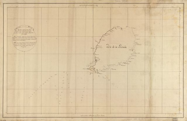 Carta esférica de la Ysla de la Granada /