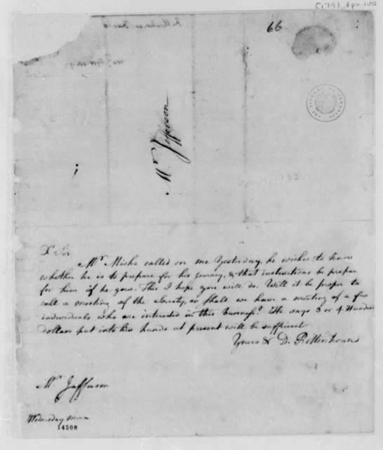 David Rittenhouse to Thomas Jefferson, April 10, 1793
