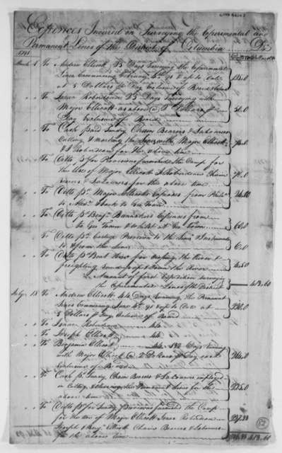 David Stuart and Daniel Carroll, Commissioners to Thomas Jefferson, February 12, 1793, with List of Expenses of the Surveyor's Department