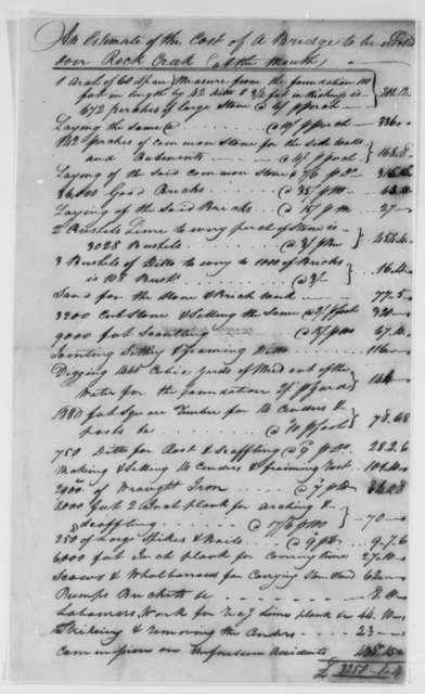 David Stuart and Daniel Carroll, Commissioners to Thomas Jefferson, March 21, 1793, with Estimate