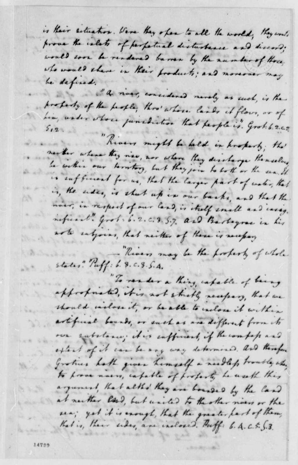 Edmund Randolph to Thomas Jefferson, May 14, 1793, Opinion on Seizure of the British Ship Grange by French Frigate
