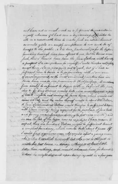 Ernst Frederick Gayer to Thomas Jefferson, January 8, 1793
