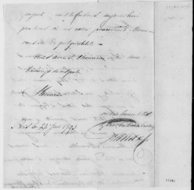 Ferdinand Grand & Company to Thomas Jefferson, June 24, 1793, in French