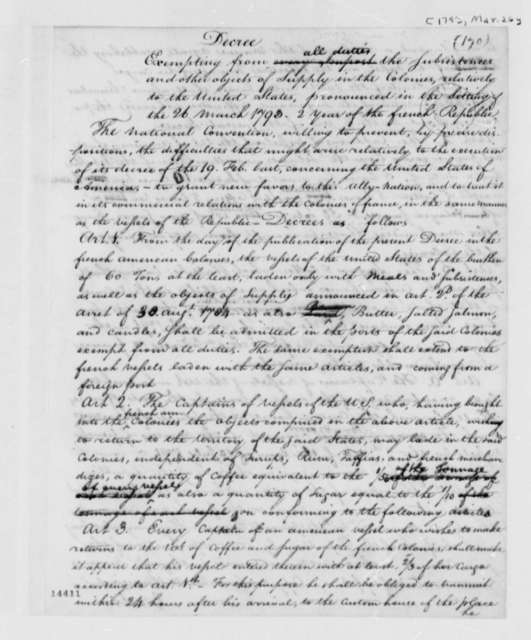 France, March 26, 1793, Decree from the National Convention