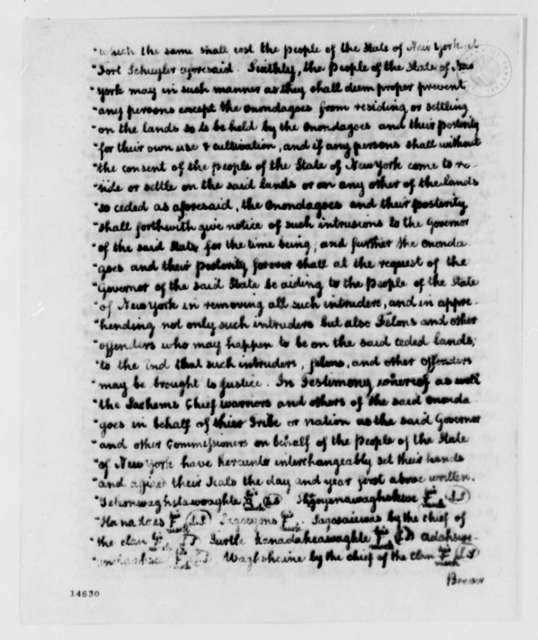 George Clinton, April 11, 1793, Report on New York Indian Land Deeds