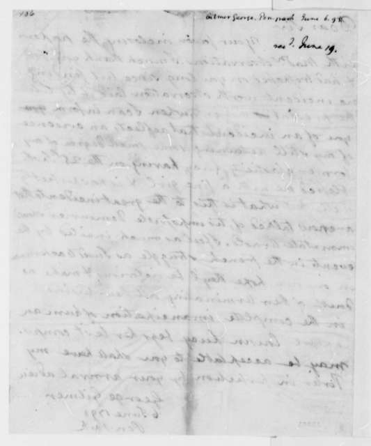 George Gilmer to Thomas Jefferson, June 6, 1793