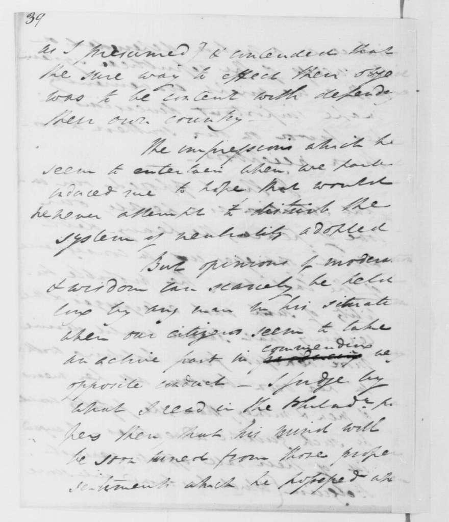George Washington Papers, Series 4, General Correspondence: Henry Lee to George Washington, June 14, 1793