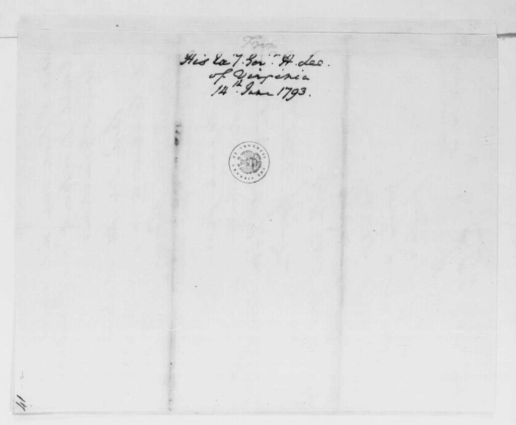 George Washington Papers, Series 4, General Correspondence: Henry Lee to George Washington, June 14, 1793