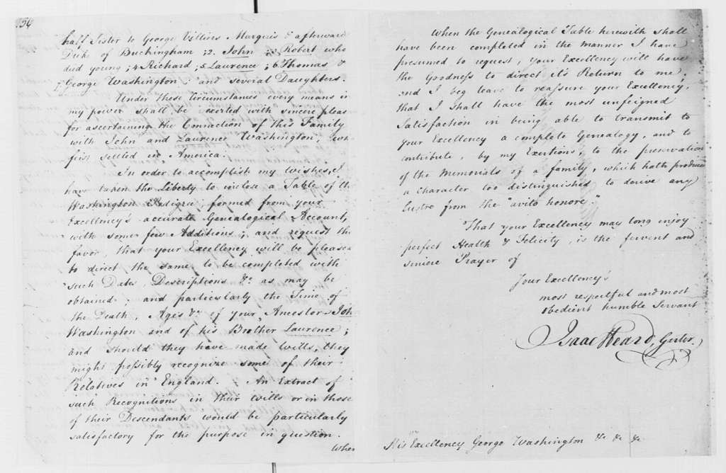 George Washington Papers, Series 4, General Correspondence: Isaac Heard to George Washington, August 9, 1793