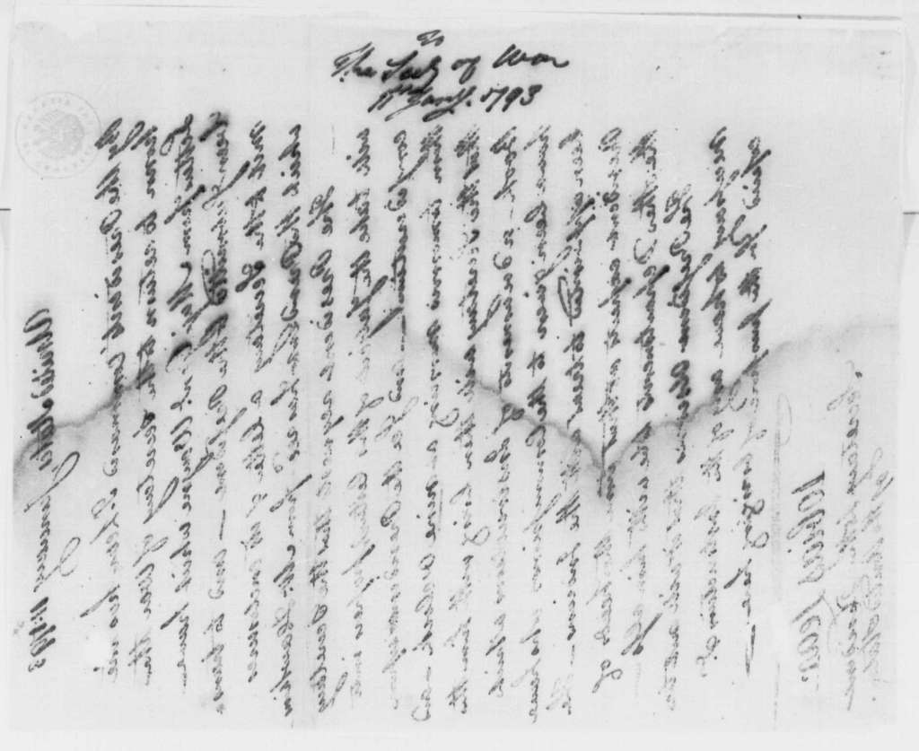 George Washington Papers, Series 4, General Correspondence: Tobias Lear to Henry Knox, January 11, 1793