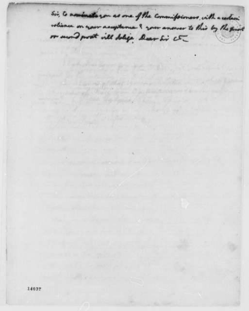 George Washington to Indian Commissioners, January 23, 1793