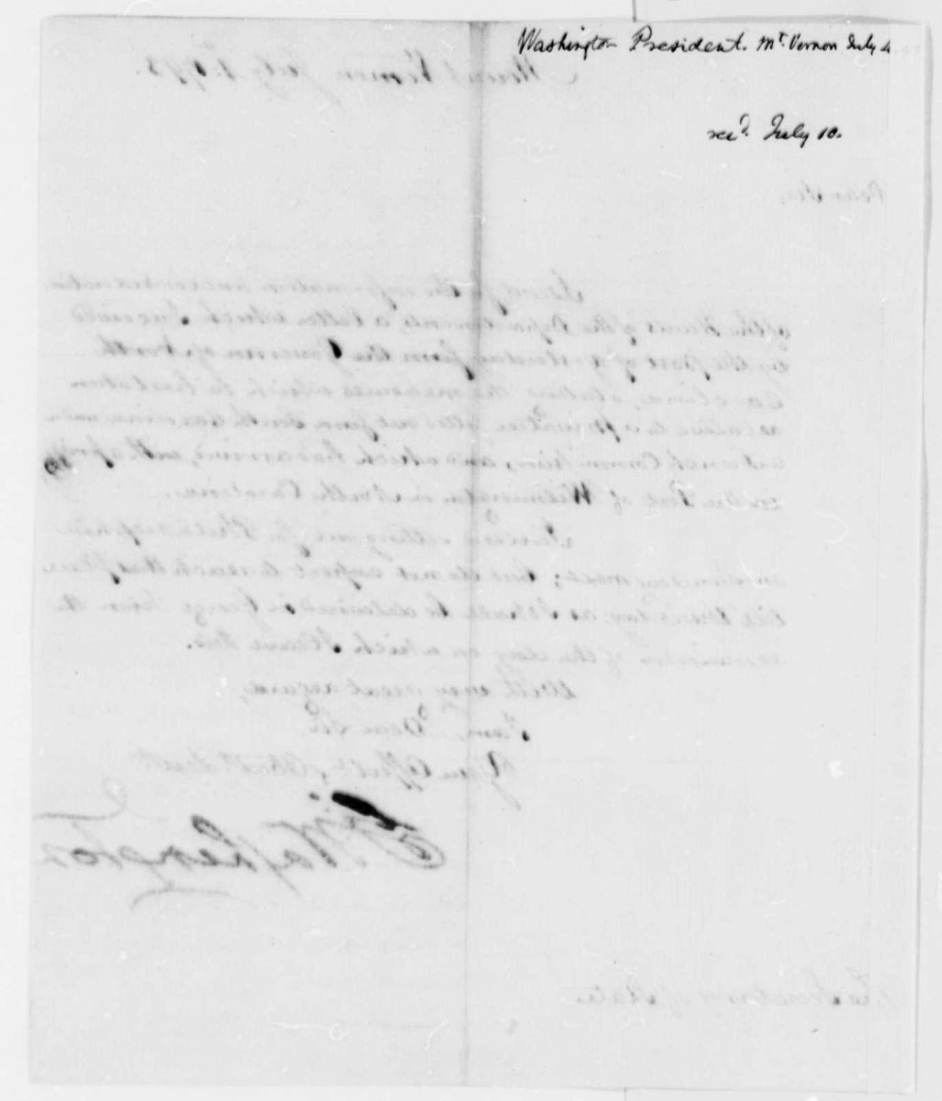 George Washington to Thomas Jefferson, July 4, 1793