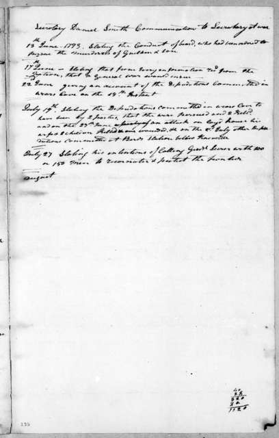 Henry Knox to William Blount, May 14, 1793