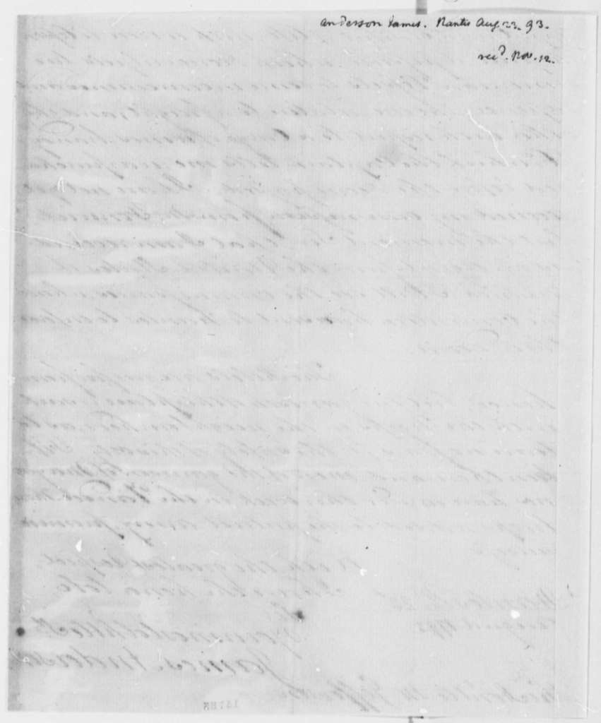 James Anderson to Thomas Jefferson, August 23, 1793