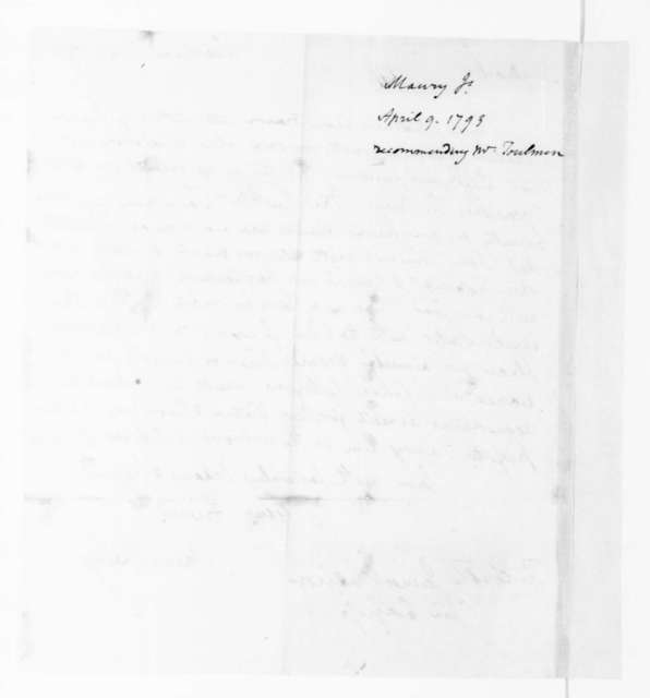 James Maury to James Madison, April 9, 1793.