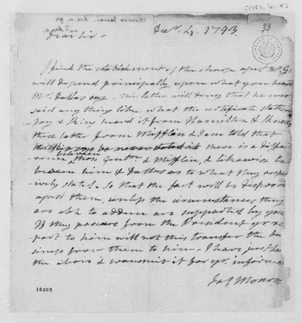 James Monroe to Thomas Jefferson, December 4, 1793