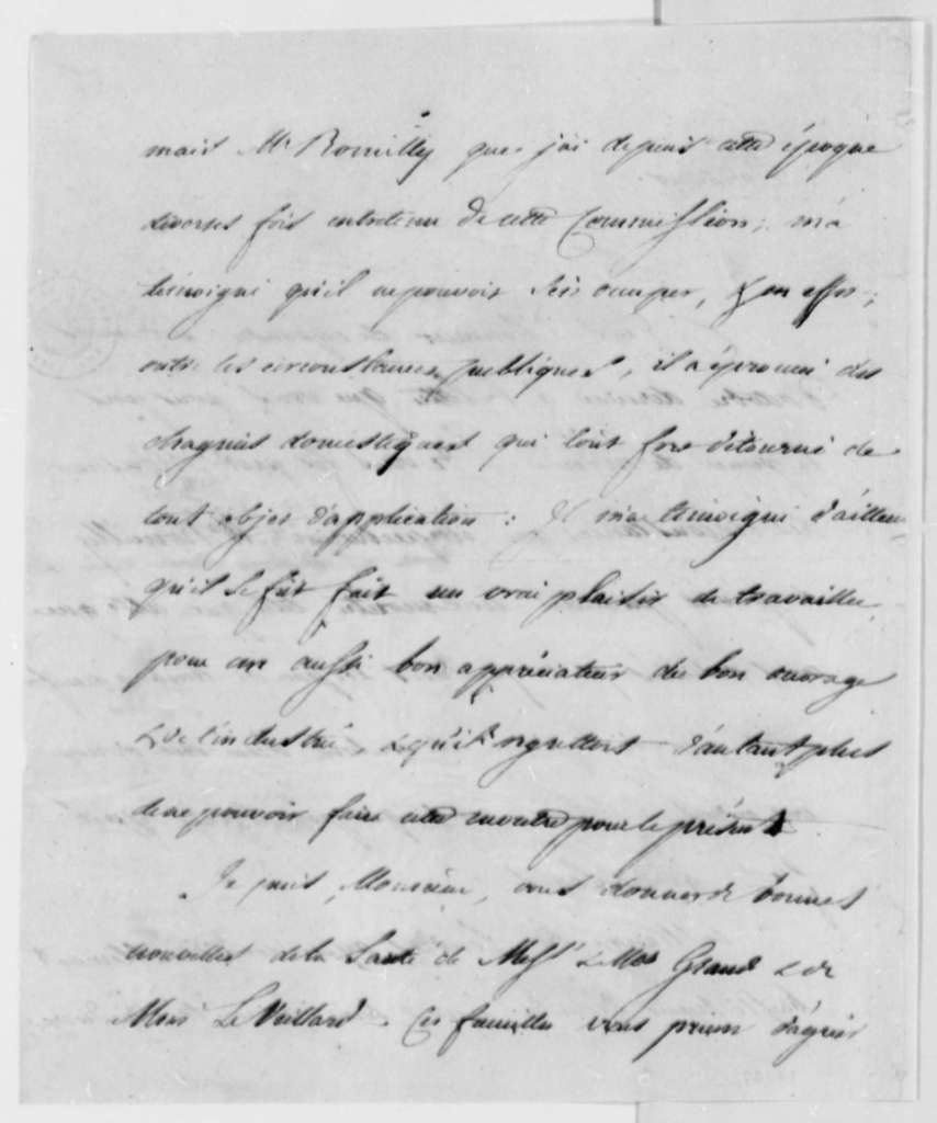 Jean Antoine Gautier to Thomas Jefferson, May 25, 1793, in French