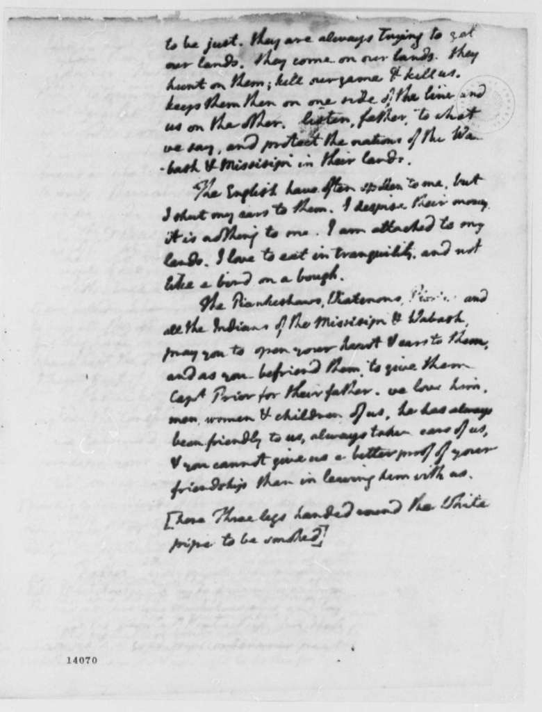 Jean Baptiste de Coigne, February 1, 1793, Indian Lands