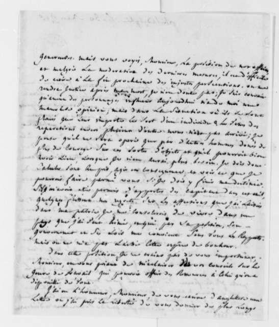 Jean Nicolas Demeunier to Thomas Jefferson, March 30, 1793, in French