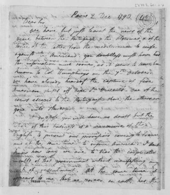 Joel Barlow to Thomas Jefferson, December 2, 1793