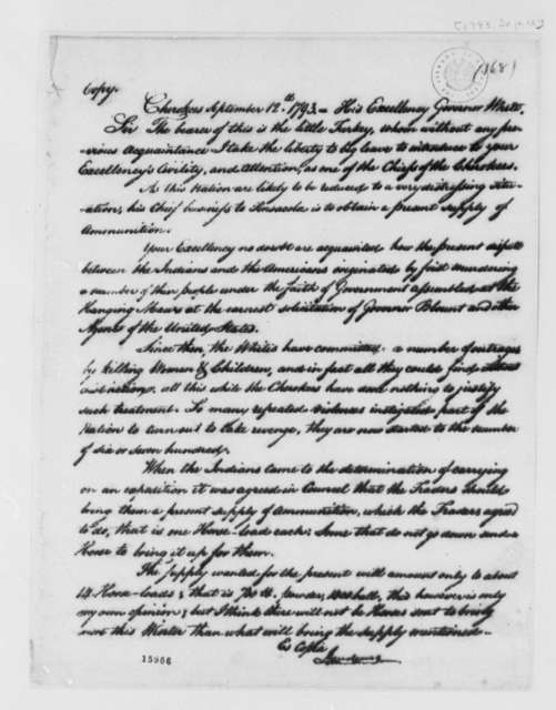 Josef de Jaudenes to Governor White, September 12, 1793