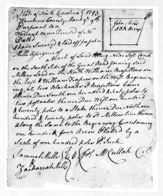 Joseph McCullah, May 9, 1793