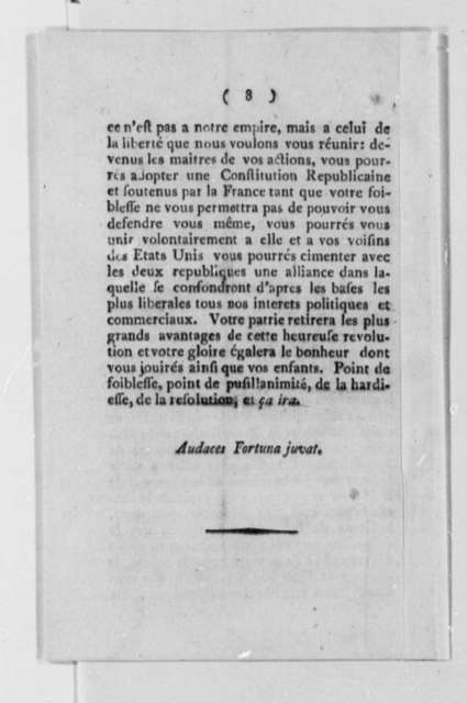 Les Francais Libres A Leurs Freres de la Louisiane, 1793, Pamphlet In French