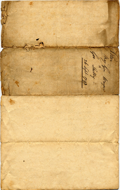 Letter from Anthony Wayne to Isaac Shelby