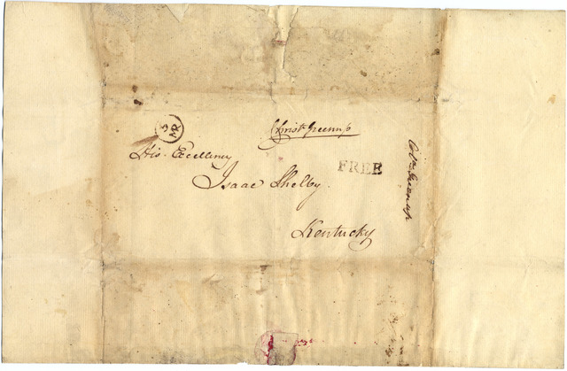 Letter from Christopher Greenup to Isaac Shelby