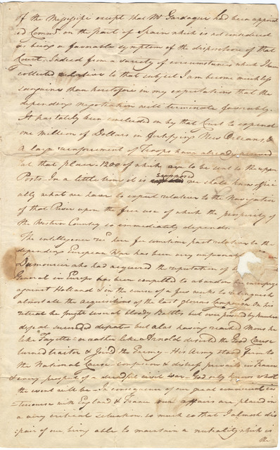 Letter from John Brown to Isaac Shelby