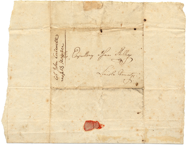Letter from John Caldwell to Isaac Shelby