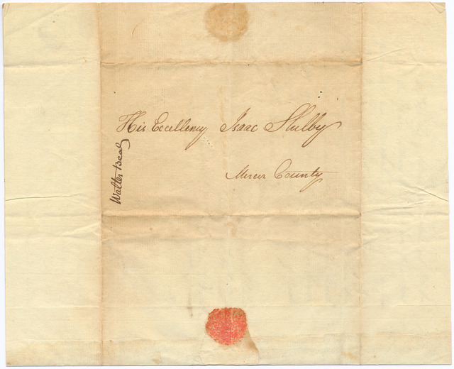 Letter from Walter Beall to Isaac Shelby