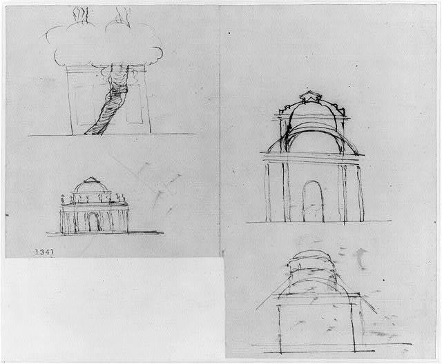 [Monuments, Washington, D.C. Sketches - elevations]