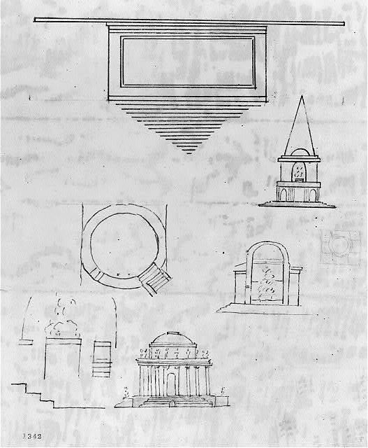 [Monuments, Washington, D.C. Various studies - plans and elevations]