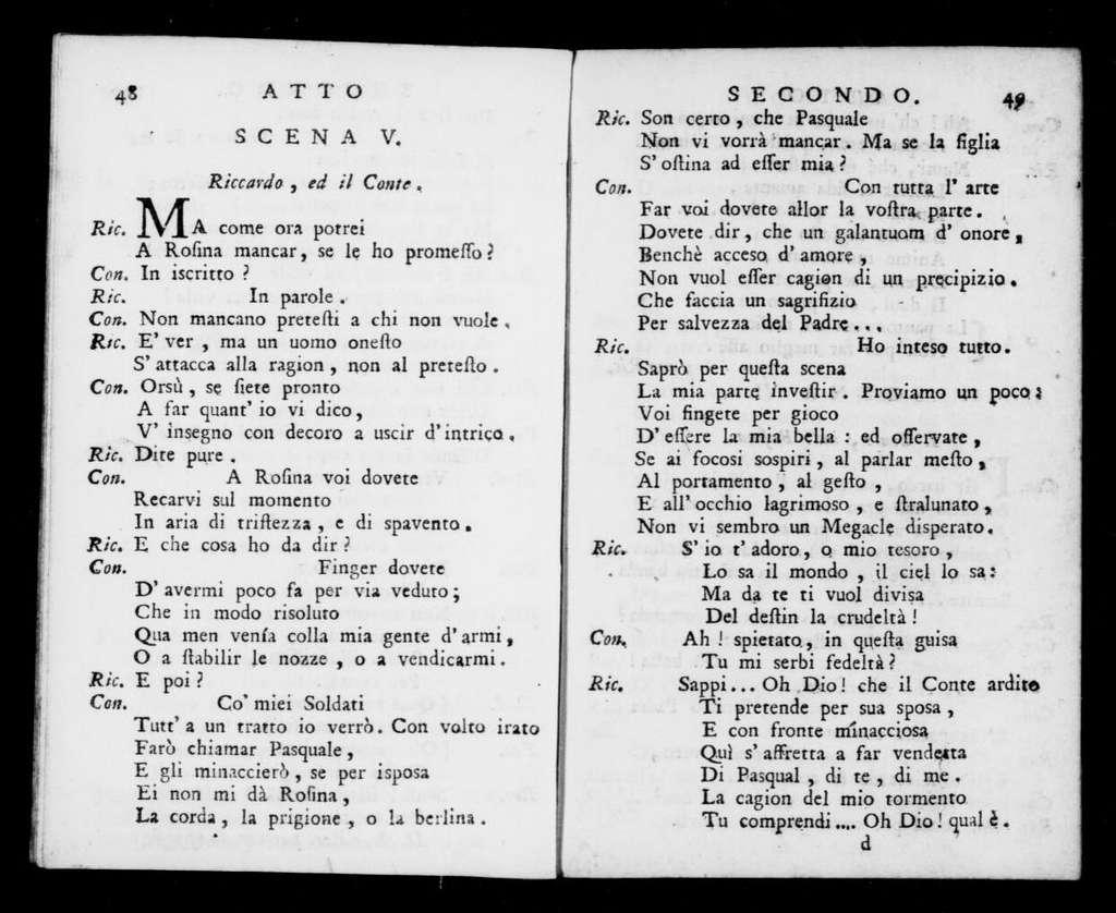 Oro fa tutto. Libretto. Italian