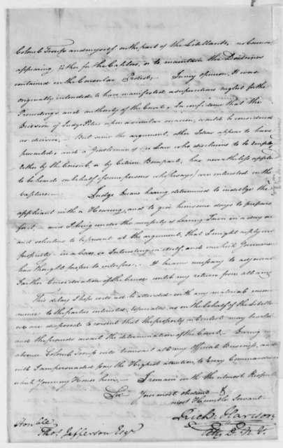 Richard Harrison to Thomas Jefferson, July 24, 1793