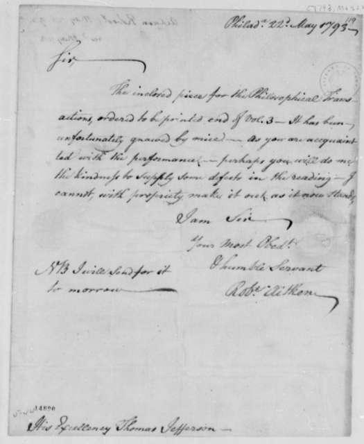 Robert Aitken to Thomas Jefferson, May 22, 1793