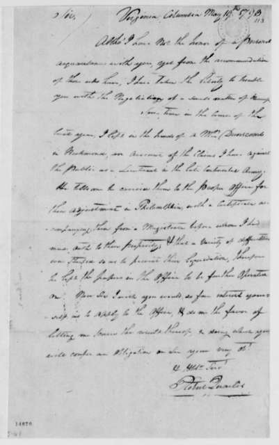 Robert Quarles to Thomas Jefferson, May 19, 1793